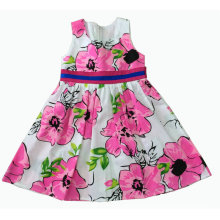 Flower Dress in Summer for Hot Sale Children Clothes (SQD-120)