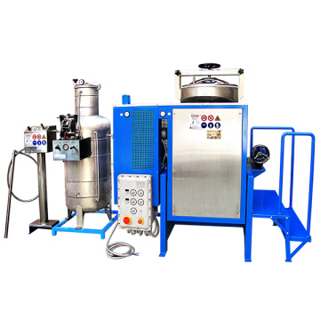 Machine anti explosion solvent recovery unit