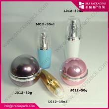 Sunrise Wholesale Emballages cosmétiques vides Lotion acrylique Bouteille bouteille de crème de bouche Emballage cosmétique de luxe
