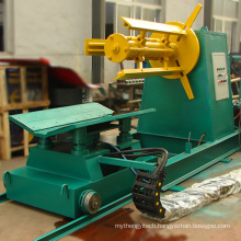 Hot sale 5 ton hydraulic decoiler in color coating line