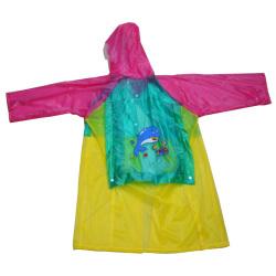 Colorful Kids Pvc Raincoat