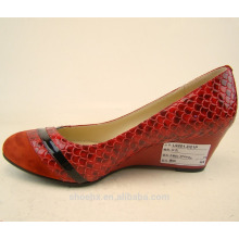 red women fancy heel shoes wedge shoes