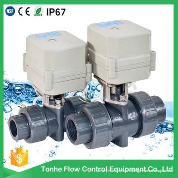 D25 plástico PVC WC Shut off electro válvula de bola Venta al por mayor