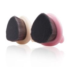Nova moda cabelo sintético macio rosto limpeza escova Facial com o punho plástico