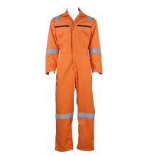 Best Price for for Basic Flame Retardant Coverall Orange Color High Visibility fire retardant work uniform export to Czech Republic Suppliers