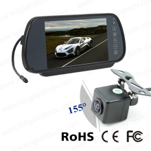 7inches Mobile Vision Mirror Monitor del sistema con cámara impermeable