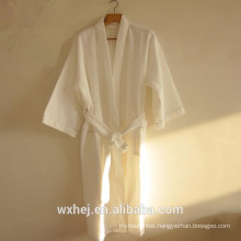 Bulk sale 50% cotton 50% polyester waffle kimono bathrobe for men and women
