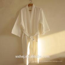 Массовая продажа 50% хлопок 50% полиэстер вафельный кимоно халат для мужчин и женщин
