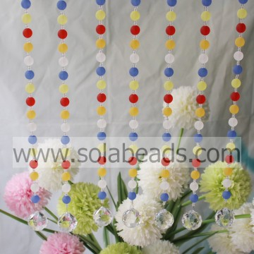 Fare 4MM & 14MM filo Crystal Bead Strands Garland