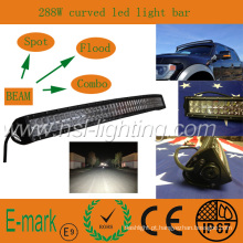 Alta qualidade! ! ! Barra de luz LED de 50 polegadas, luz LED para carro 4 * 4 CREE, iluminação LED curva 10-30V DC
