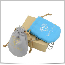 Customized Microfiber Both Side Pull Jewelry Pouch