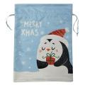 Weihnachtskordelzugbeutel mit Pinguinmuster