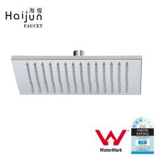 Haijun Products China Montaje en la pared de ahorro de agua de forma cuadrada Rain Shower Head