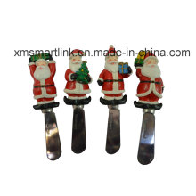 Скульптура Polyresin Santa Handle Butter Knife