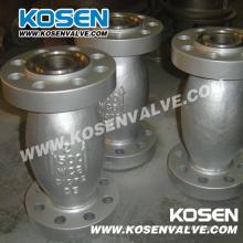 Válvula de flujo axial de acero fundido