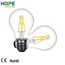 4W E27 todo o bulbo de vidro do filamento do diodo emissor de luz A60