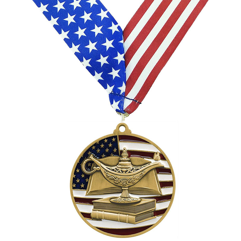 Gold Knowledge Academic Die Cast Medal