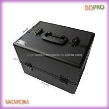 Gran volumen negro entero profesional maquillaje casos con espejo (saccom065)