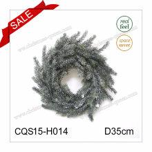 D40cm Moda Decorações de Natal Plástico Artificial Indoor Nature Christmas Wreaths