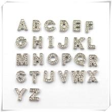 Inicial strass letter slider pendente encantos para fazer pulseira