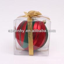 2014 vogue bolas decorativas de Navidad de plástico abierto