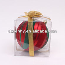 2014 vogue decorative plastic christmas balls open
