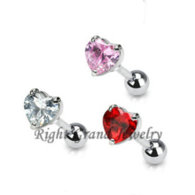En gros 5mm Star Coeur Zircon Oreille Cartilage Piercing Tragus