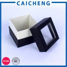 Pequeñas cajas de papel personalizadas para regalo con ventana transparente