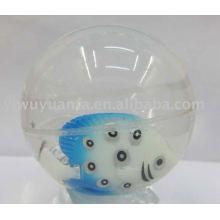 Высокое качество светодиодов мигающий прыгающий мяч ( рыба плавает внутри)