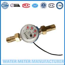 Contadores de 5 dígitos Medidor de agua de chorro Singe con salida de impulsos