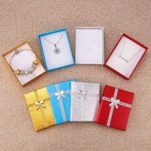 Gold Blue Red Silver Necklace Box