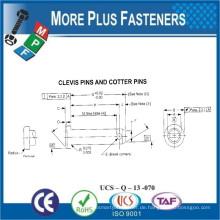 Made in Taiwan Hard Taper Dübel und Groove Gabelkopf und Cotter Pin