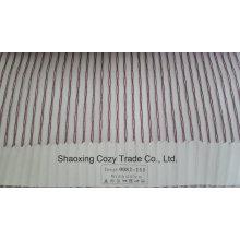 Nouveau tissu de rideau transparent Organza Voile Strike de projet populaire 0082111