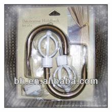Ganchos de cortina de metal de latão decorativos