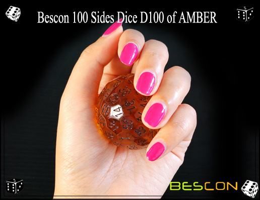 Bescon 100 Sides Dice D100 of AMBER-5