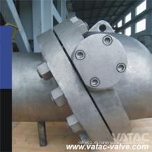 Válvula de retención de la oblea de disco inclinada Ss304 / Ss316 de acero fundido