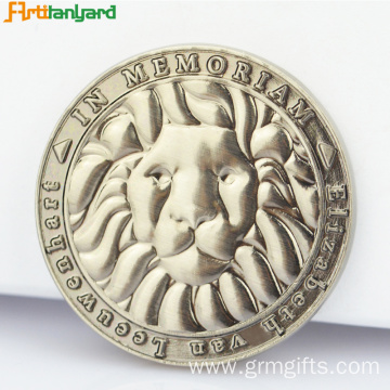 Special Custom Metal Coin With Silver Plating