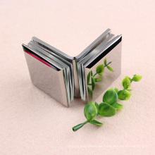Top-Qualität heißer Verkauf Quadrat gewölbt Oberfläche 135 Grad Bad Glasklemme mit kurzen Lieferzeit