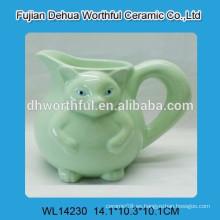 Taza de café de cerámica con forma de zorro