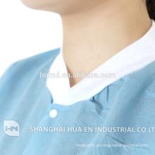 Classical Designed Medical Scrubs Hospital Uniform descartável Lab Coat