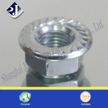 Hex Flange Nut with Zinc