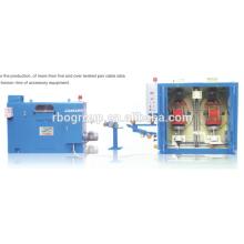 vertical double spool backward twisting machine