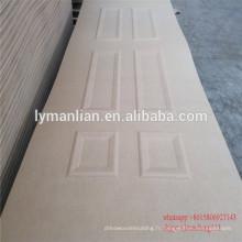 panneau décoratif de porte en bois naturel de peau de porte de mdf