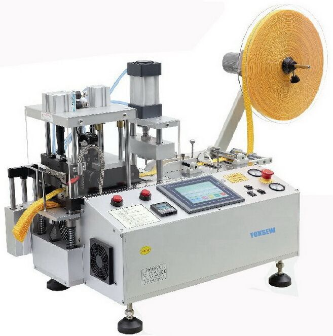 Multi Function Webbing Cutting Machine with Hole Punching