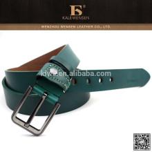 Correa de cuero verde para hombre 2014 cinturón verde para hombre