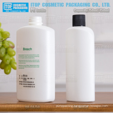 750ml & 450ml cosmetics, shampoo, body lotion, household, industrial big white oval high density pe plastic bottle