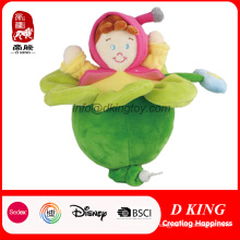 Beautiful Flower Girl Doll Soft Plush Stuffed Toy for Kids