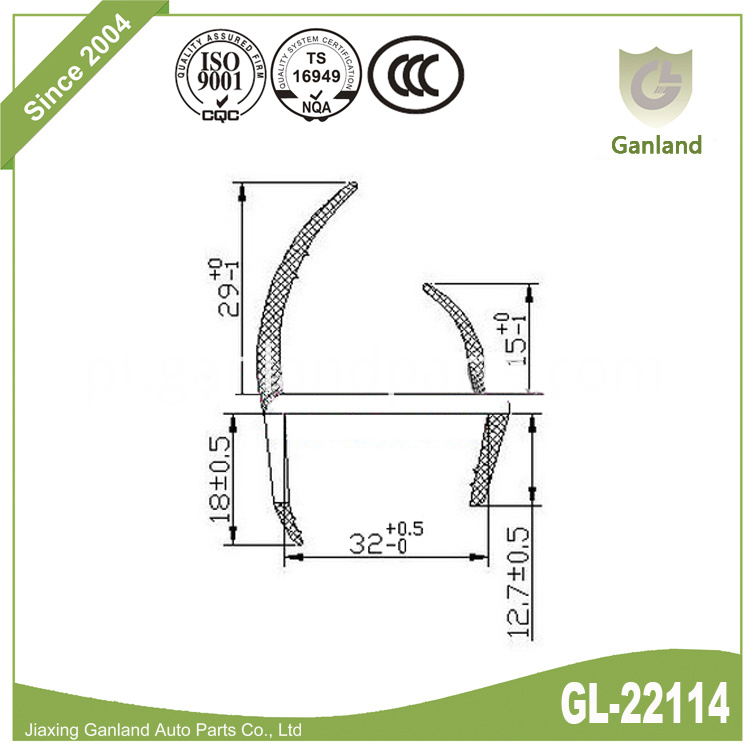 Cargo Truck Rubber Seal gl-22114