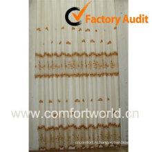 Вышитый занавес ткани, изготовленные из полиэстера