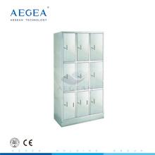 AG-SS001 Edelstahl Kleiderschränke mit neun Einheiten für Stahlschrank zu verkaufen